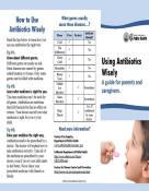 Pamphlet presentation for public health